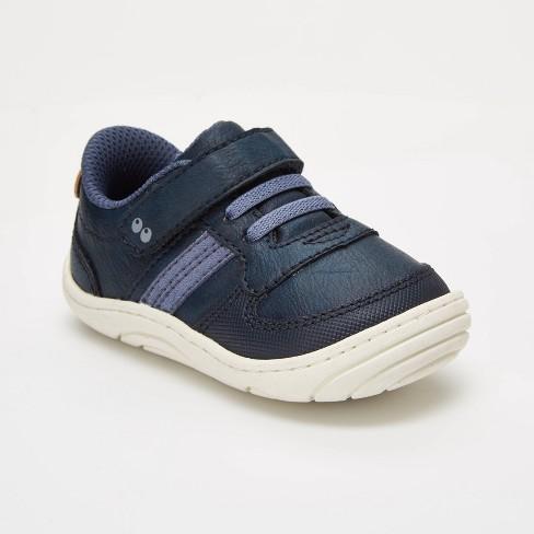 Baby Toddler Boys Surprize by Stride Rite Alec Hook /& Loop Sneakers Black White
