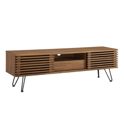 """59"""" Render TV Stand for TVs up to 70"""" Walnut - Modway"""