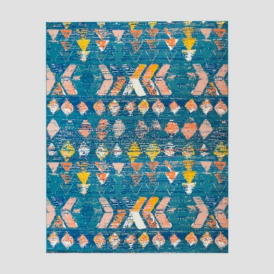 7' x 10' Dab Marks Outdoor Rug Blue - Opalhouse™