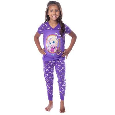 Polly Pocket Girls' Animated Series Heart Shirt Pants Jogger Pajama Set