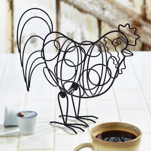 Lakeside Country Rooster 8 Cup Coffee Pod Holder - Farmhouse Kitchen Decoration - image 1 of 2