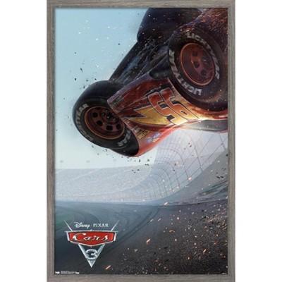 Trends International Disney Pixar Cars 3 - One Sheet Framed Wall Poster Prints