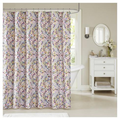 Geometric Shower Curtain Purple Yellow Target