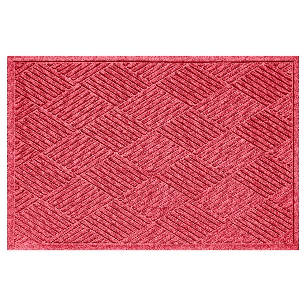 Red Solid Doormat - (3'X5') - Bungalow Flooring