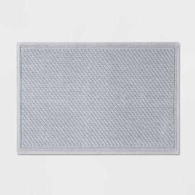 "21""x30"" Performance Solid Cotton Bath Mat Light Blue - Threshold™"