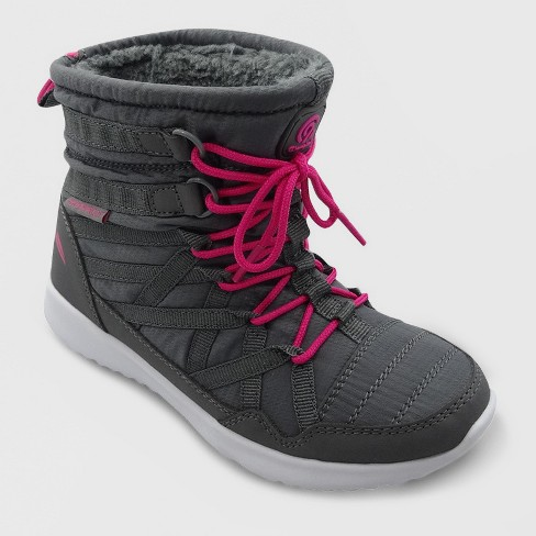 Girls' Pomm Snow Jogger Winter Boots - C9 Champion® Gray - image 1 of 3