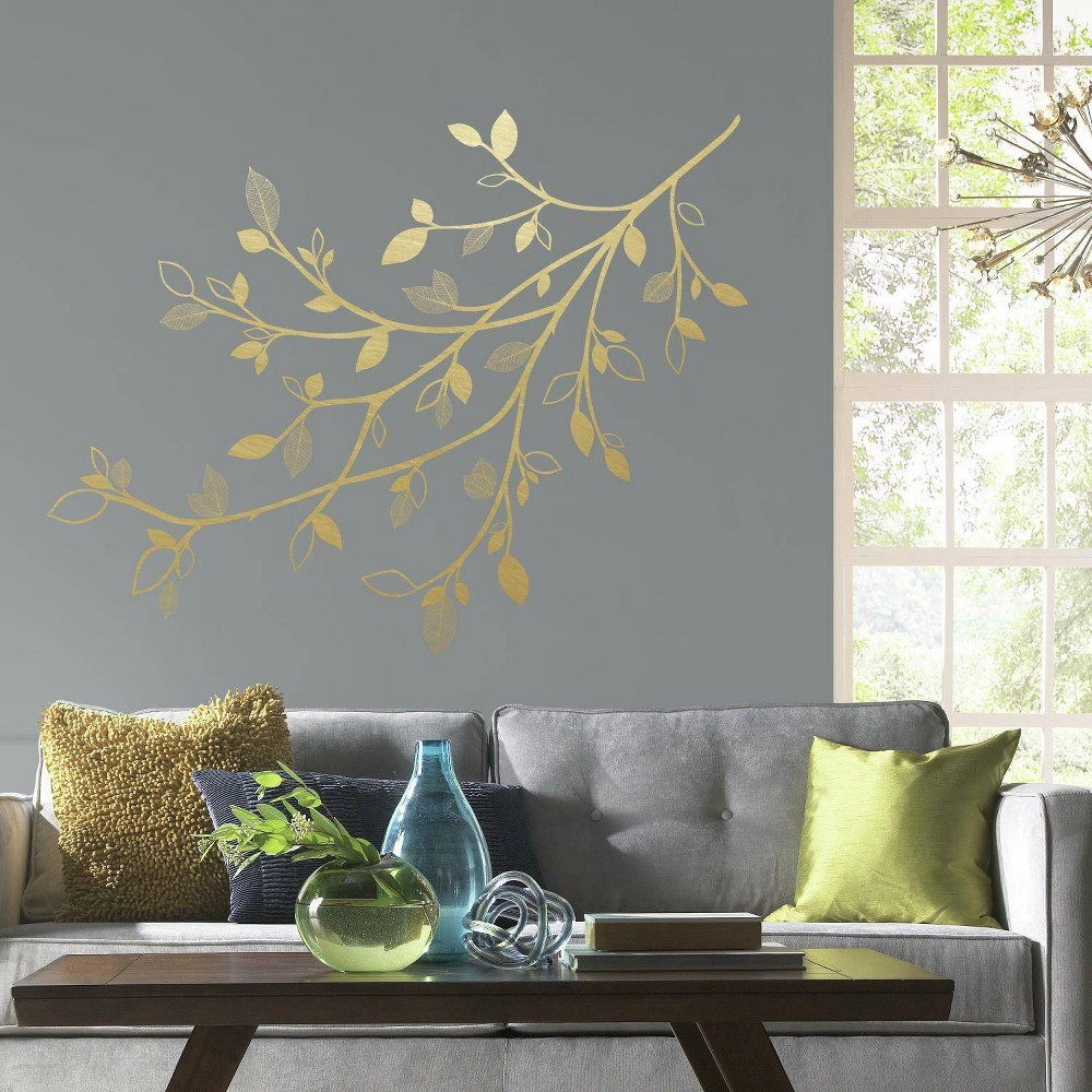 3d Leaves Branch Peel And Stick Giant Wall Decal Roommates