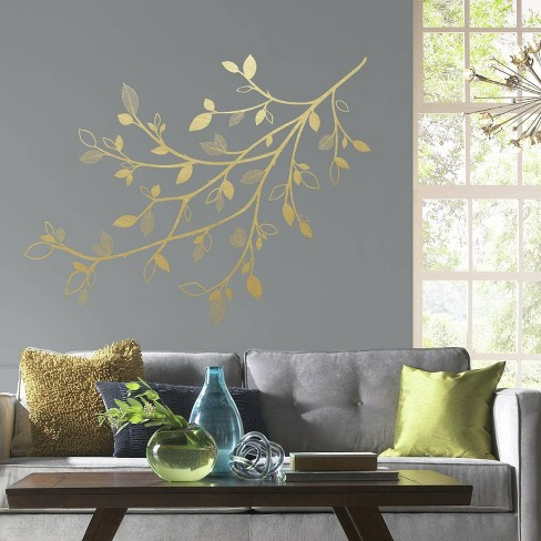 3D Leaves Branch Peel and Stick Giant Wall Decal - RoomMates - image 1 of 3