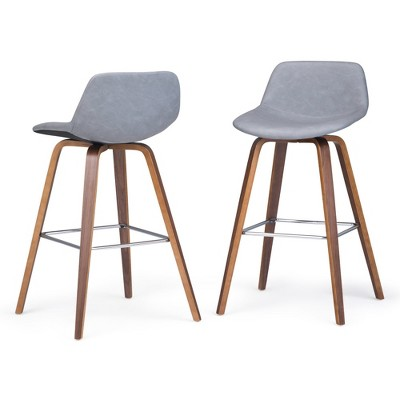 Set of 2 Cacey Bentwood Counter Height Stool - Wyndenhall