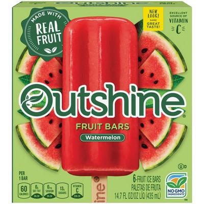 Outshine Watermelon Frozen Fruit Bars - 6ct/14.7oz