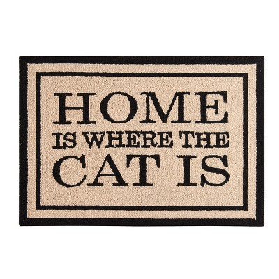 2'x3' Rectangle Cat Accent Rug Brown - C&F Home