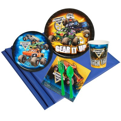 Birthday Express Monster Jam Party Pack - Serves 24 Guests