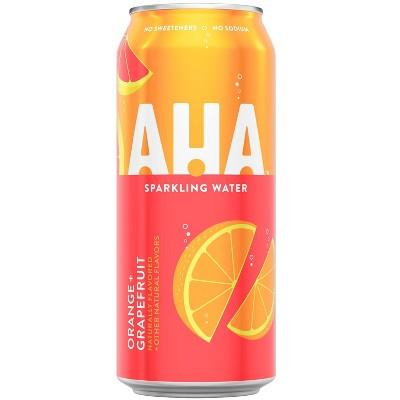AHA Orange + Grapefruit Sparkling Water - 16 fl oz Can
