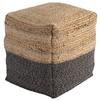 Sweed Valley Pouf Natural/Black - Signature Design by Ashley
