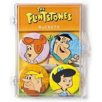Crowded Coop, LLC Hanna-Barbera The Flintstones Magnet 4-Pack