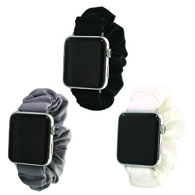 Olivia Pratt Solid Color Scrunchie Apple Watch Band