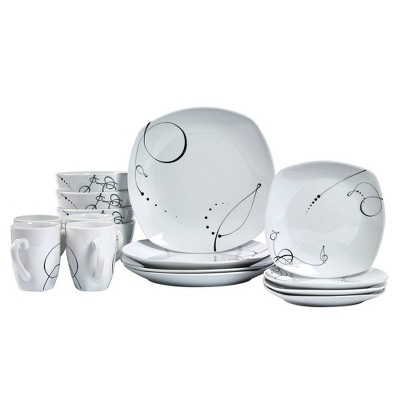 16pc Porcelain Pescara Dinnerware Set - Tabletops Gallery