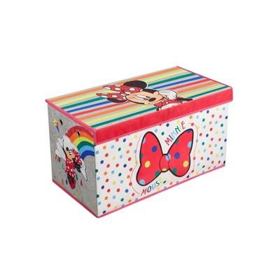 """30"""" Minnie Mouse Rainbow Soft Storage Folding Bench"""