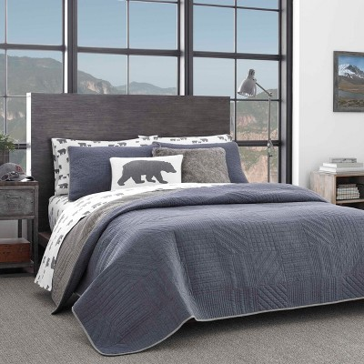 Hidden Lake Quilt Set Blue - Eddie Bauer
