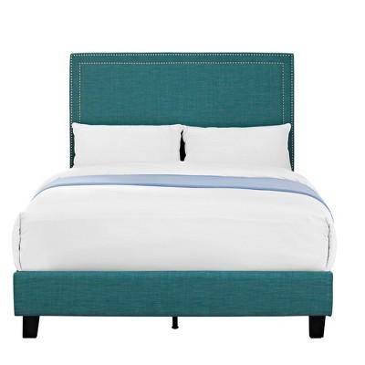 Emery Upholstered Full Platform Bed Teal - Picket House Furnishings