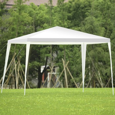 Costway 10'x10' Outdoor Heavy duty Pavilion Cater Events Outdoor Party Wedding Tent White