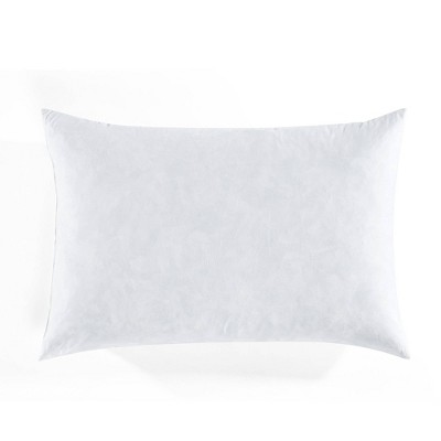 """14""""x21"""" Feather Down with Cotton Cover Lumbar Throw Pillow Insert White - Lush Décor"""
