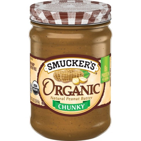 Smucker's Organic Chunky Peanut Butter - 16oz - image 1 of 3