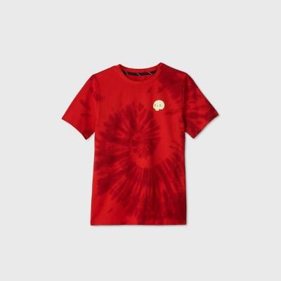 Boys' Short Sleeve Tie-Dye Skull Graphic T-Shirt - art class™ Red