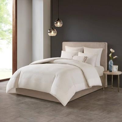 Hanae Cotton Blend Yarn Dyed Comforter Set
