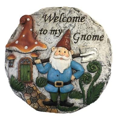 "Home & Garden 9.5"" Gnome Stepping Stone Garden Decorative Ganz  -  Stepping Stones And Pathways"
