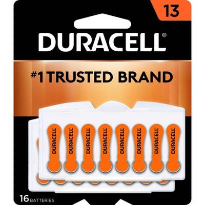 Duracell Size 13 Hearing Aid Batteries - 16 Pack - Easy-Fit Tab