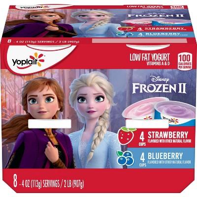 Yoplait Disney Frozen Strawberry and Blueberry Low Fat Kids' Yogurt - 8pk/4oz Cups