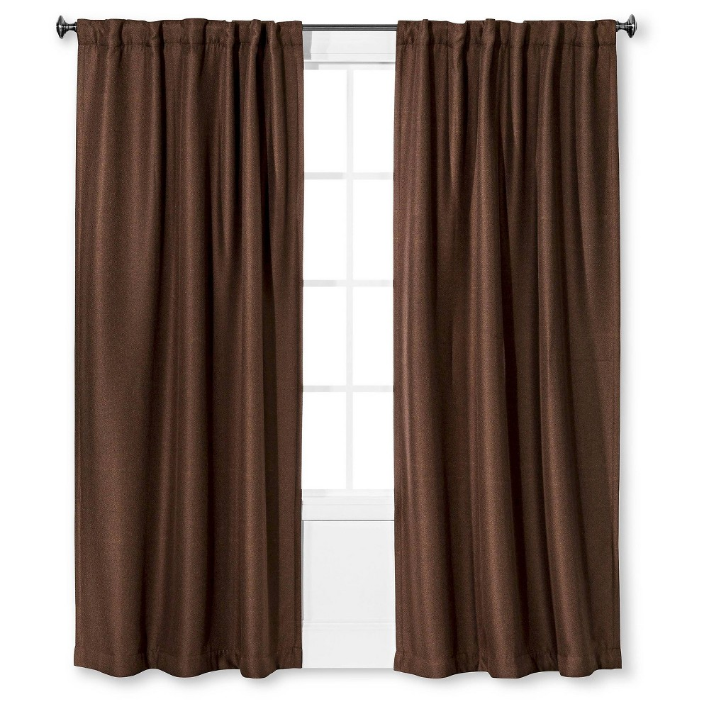 "Image of ""Gramercy Window Panel Chocolate (52"""" X 63"""") - Eclipse, Brown"""