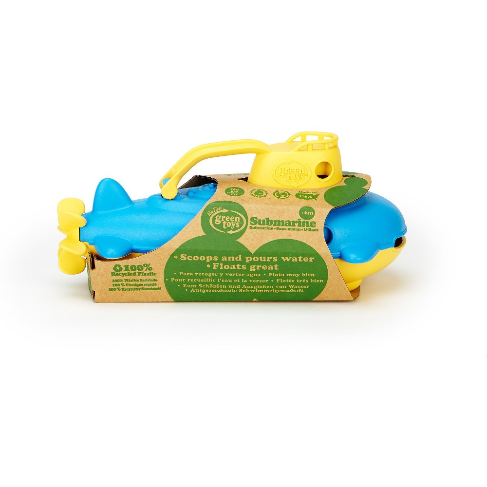 Image of Green Toys Submarine - Yellow Cabin