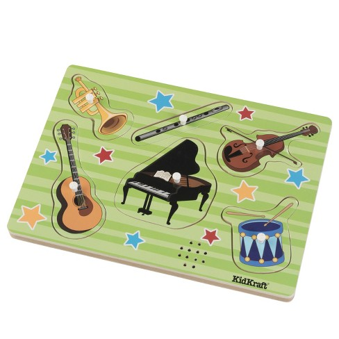 KidKraft Instrument Sound Puzzle - 6pc - image 1 of 4