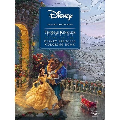 Disney Dreams Collection Thomas Kinkade Studios Disney Princess Coloring Book - (Paperback)