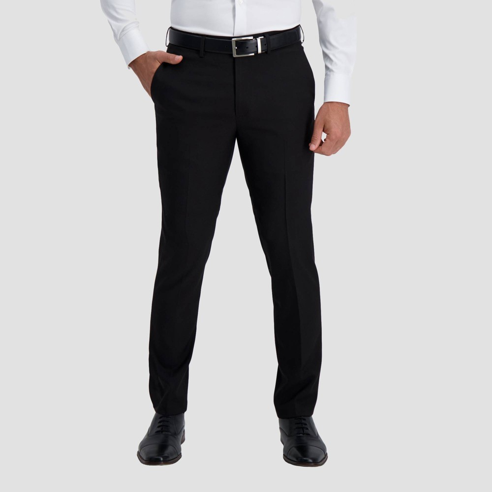 Haggar H26 Men 39 S Premium Stretch Slim Fit Dress Pants Black 30x30
