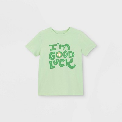 Boys' Short Sleeve Graphic T- Shirt - Cat & Jack™ Light Green
