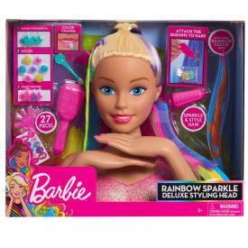 Barbie Rainbow Sparkle Deluxe Styling Head Target