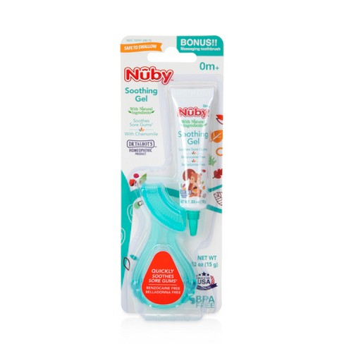 Nuby™ All Natural Teething Gel with Gum Massager - image 1 of 2