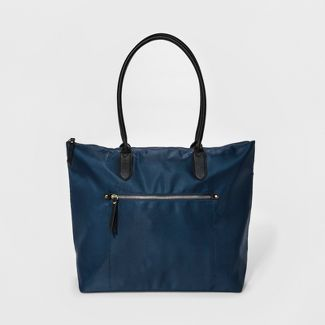 Nylon Tote Handbag - A New Day™ Navy