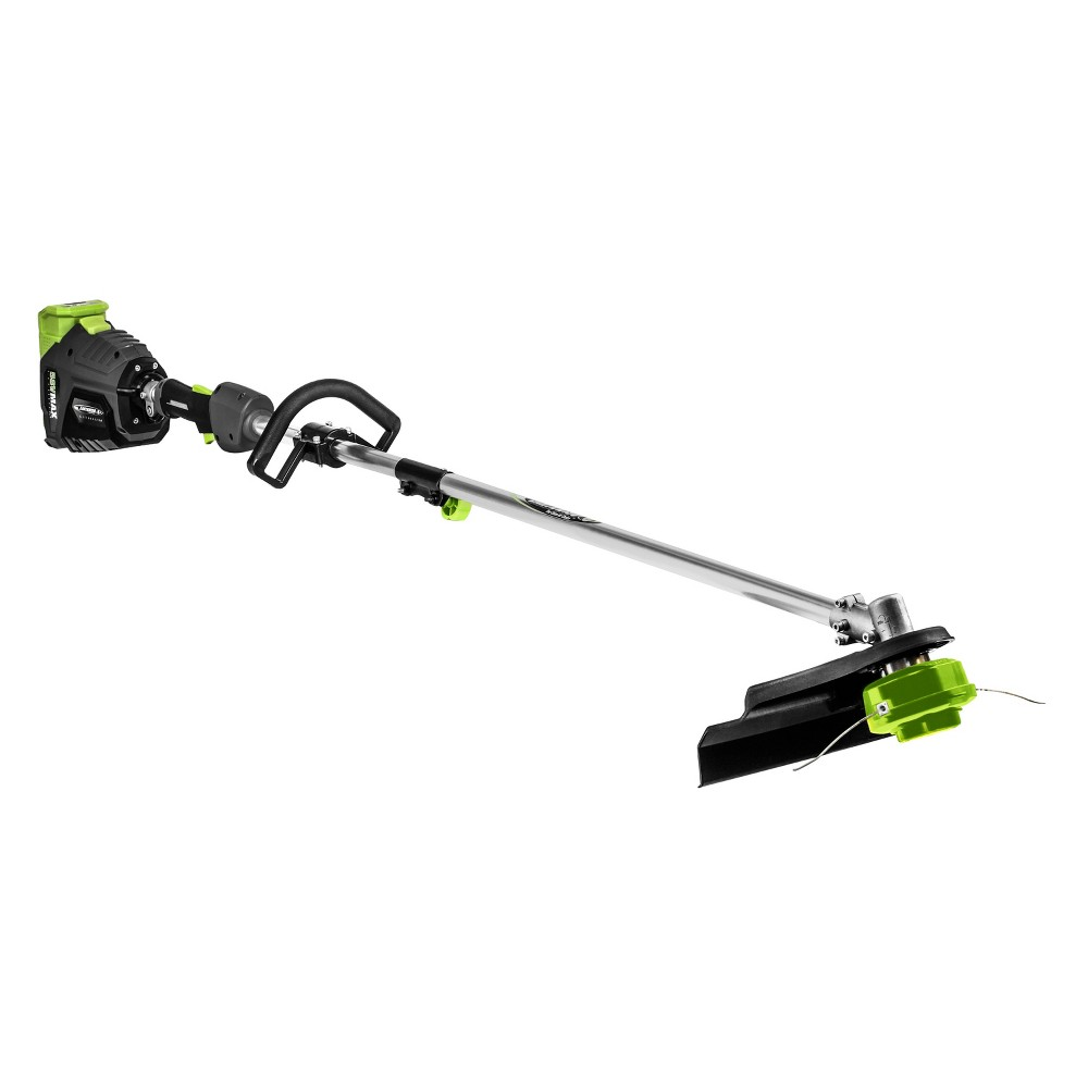 "Image of ""15"""" 58 Volts, 112 Watts Cordless Lithium String Trimmer - Gray - Earthwise, Silver"""