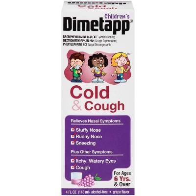 Children's Dimetapp Cough & Cold Relief Liquid - Dextromethorphan - Grape - 4 fl oz