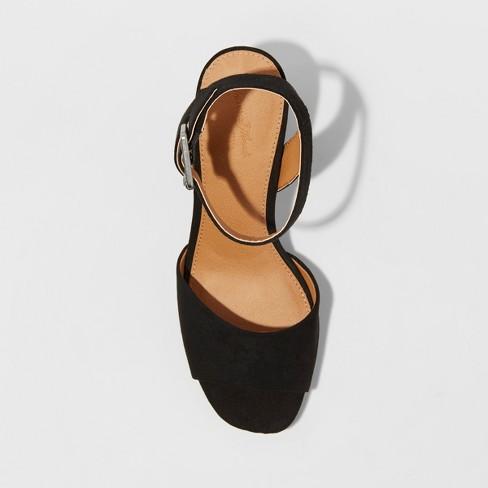 2835c7179f57 Women s Megan Microsuede Quarter Strap Heeled Pump Sandals ...