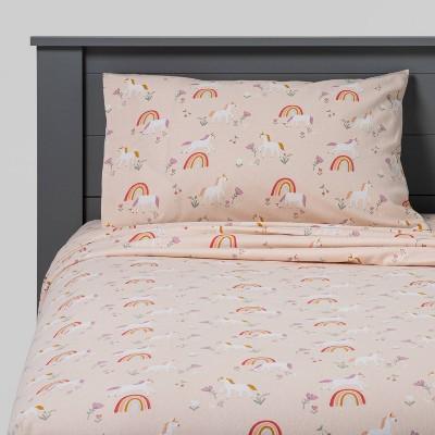 Unicorn Flannel Sheet Set - Pillowfort™