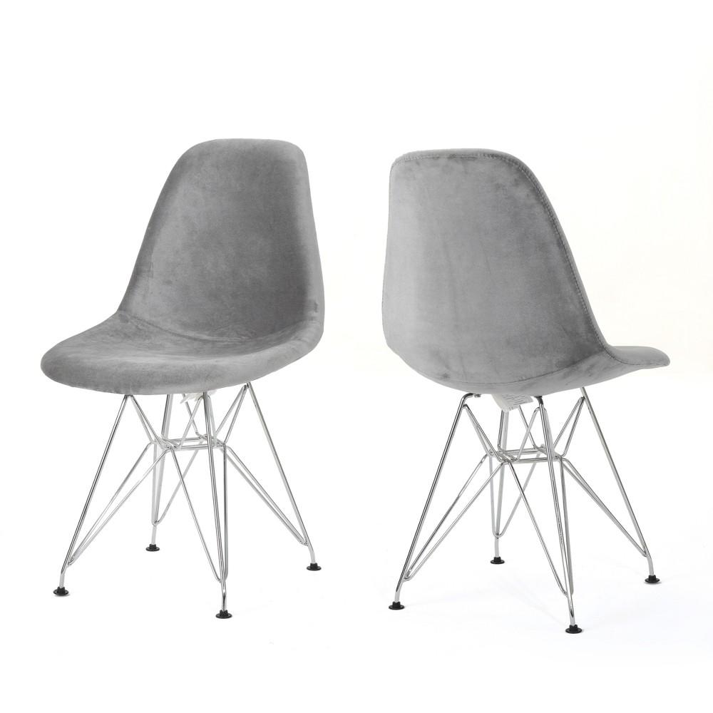 Set of 2 Wilmette Mid Century Eiffel Chair Smoke (Grey) Gray - Christopher Knight Home