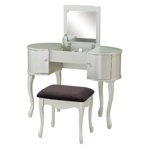 Paloma Vanity Set Silver - Linon Home Decor - image 1 of 6
