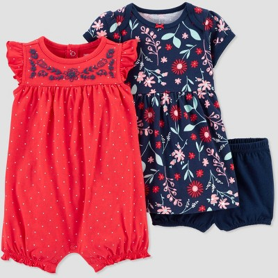 Baby Girls' 2pk Poppy Floral Dress set - Just One You® made by carter's Poppy Pink 3M