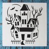 "Stencil1 Haunted House - Stencil 5.75"" x 6"" - image 3 of 3"