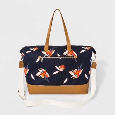 Floral Print Canvas Weekender Bag - A New Day™